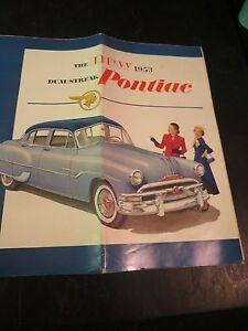 Original 1953 Pontiac Sales Brochure