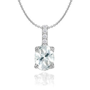 Sterling-Silver-Aquamarine-and-White-Topaz-Oval-Crown-Necklace