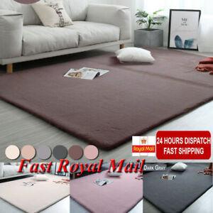 Details About Washable Area Rugs Home Bedroom Rug Floor Carpet Soft Shaggy Faux Rabbit Fur