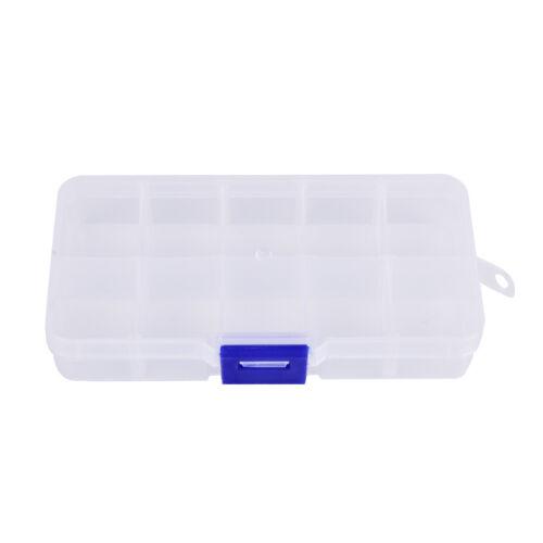 10fächer transparent sichtbar kunststoff fischköder box angelgerät box xj
