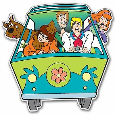 a Scooby Doo Sticker for skateboard luggage laptop tumblers car
