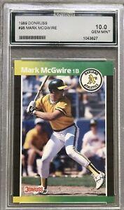 1989 DONRUSS #95 MARK McGWIRE ADVANCED 10 GEM MINT