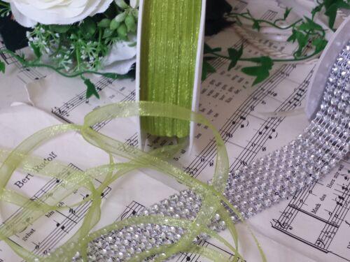 0,20€//m 5m Organzaband  7mm hellgrün grün Kommunion Hochzeit Taufe