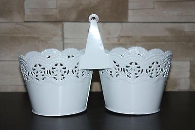 """Metal"""" Pizzo"""" Planter Box Pot Vintage Shabby Wedding Tavolo Decorazione- Comodo E Facile Da Indossare"""