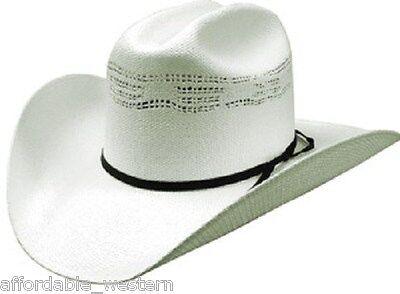 """CATTLEMAN Rodeo 35-I Western COWBOY HAT ~Burnt Toast PALM LEAF Straw~ 4/"""" Brim"""