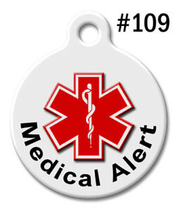 Pet-Tags-for-Dogs-amp-Cats-Personalized-Custom-Cute-ID-Tag-MEDICAL-ALERT-109