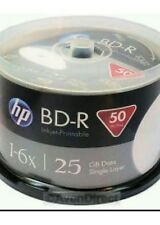 50 x HP blank printable blu ray bd-r discs