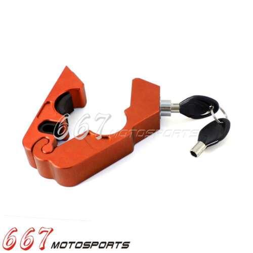 DIY CNC Alu Motor Handlebar Brake lever Grip Security Lock Anit Theft Caps-Lock