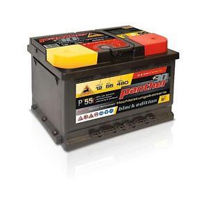 panther batterie 12v 55ah autobatterie batterie f r pkw. Black Bedroom Furniture Sets. Home Design Ideas