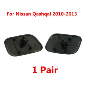 For-Nissan-Qashqai-2010-2013-L-amp-R-Front-Bumper-Headlamp-Washer-Nozzle-Cap-Cover