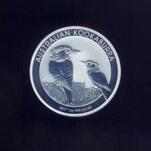 Free USA Shipping Gem 2017 $1.00 Kookaburra 1 Troy Ounce Pure Silver Australia