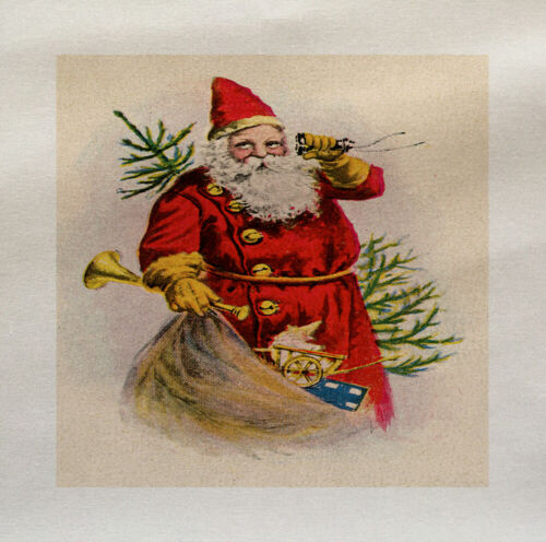 Santa Navidad árbol de Tapicería de Algodón Tela De Colección Saco Quilting Custom Craft