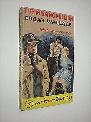 Gematigd The Missing Million. Edgar Wallace. 1961 Arrow Paperback Edition 2019 Nieuwe Mode-Stijl Online