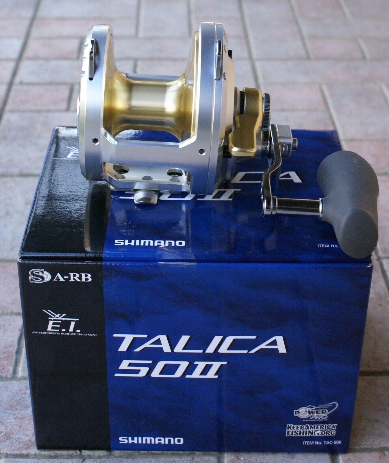 SHIMANO TALICA 50 II  TAC50II  due velocità pesca con mulinello  SPEDIZIONE GRATUITA