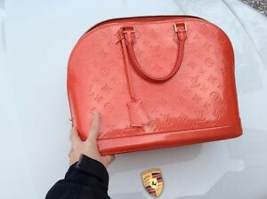 1dbb2a3611cb Image is loading LOUIS-VUITTON-RED-Vernis-Alma-GM-RARE-COLOR