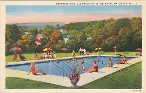 Delaware Gap Pennsylvania Glenwood Hotel Swimming Pool