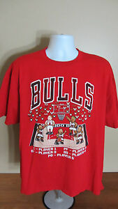 2XL NBA Chicago Bulls Hardwood Classics Player 1 2 3 4 5 Video Game ... dc6c61b51