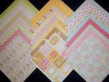 12X12 Scrapbook Paper Cardstock DCWV Little Miss Baby Toddler Girl Sunshine 24