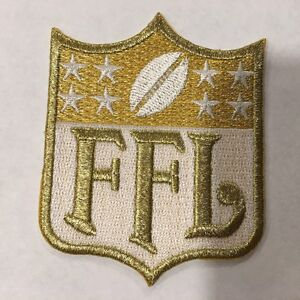 33ee98e4b GOLD Fantasy Football League FFL Patch for Jersey Trophy Champion ...