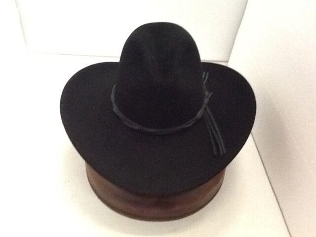 Stetson Cowboy Hat 6X Beaver Fur Black GUS With Free Hat Brush+No Tax Sale cc8b6f44ff5
