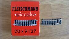 Ladenneu Fleischmann Spur N gebogenes Gleis dunkler Schotter 9123