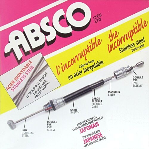 Absco 25153 Stainless Steel Brake Cable Front Parking Brake Cable