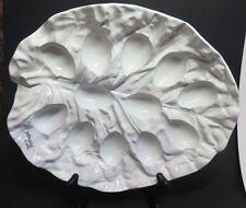 Bordallo Pinheiro Cabbage Egg Serving Dish Plate White Portugal Ceramic