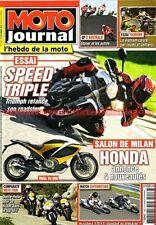 MOTO JOURNAL 1926 TRIUMPH 675 1050 HUSABERG 570 YAMAHA FZ8 KAWASAKI ZX-9 R 2010