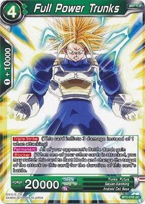 Dragon Ball Super TCG  Intensifying Power Trunks BT4-012 Uncommon