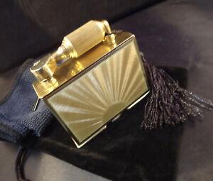 McMurdo Petrol Table Lighter - Solid Silver - Sunburst Guilloche - 1948 - Cased