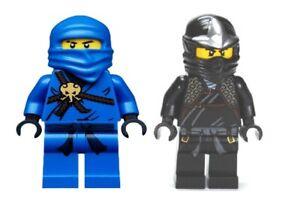 MINIFIGURE LEGO NINJAGO COLE ZX + JAY njo054 njo004 2 pezzi