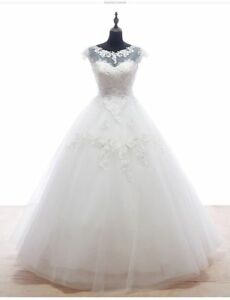 Wedding-Dress-White-Ivory-Lace-Bridal-Gown-Custom-all-Size-2-4-6-8-10-12-14-16