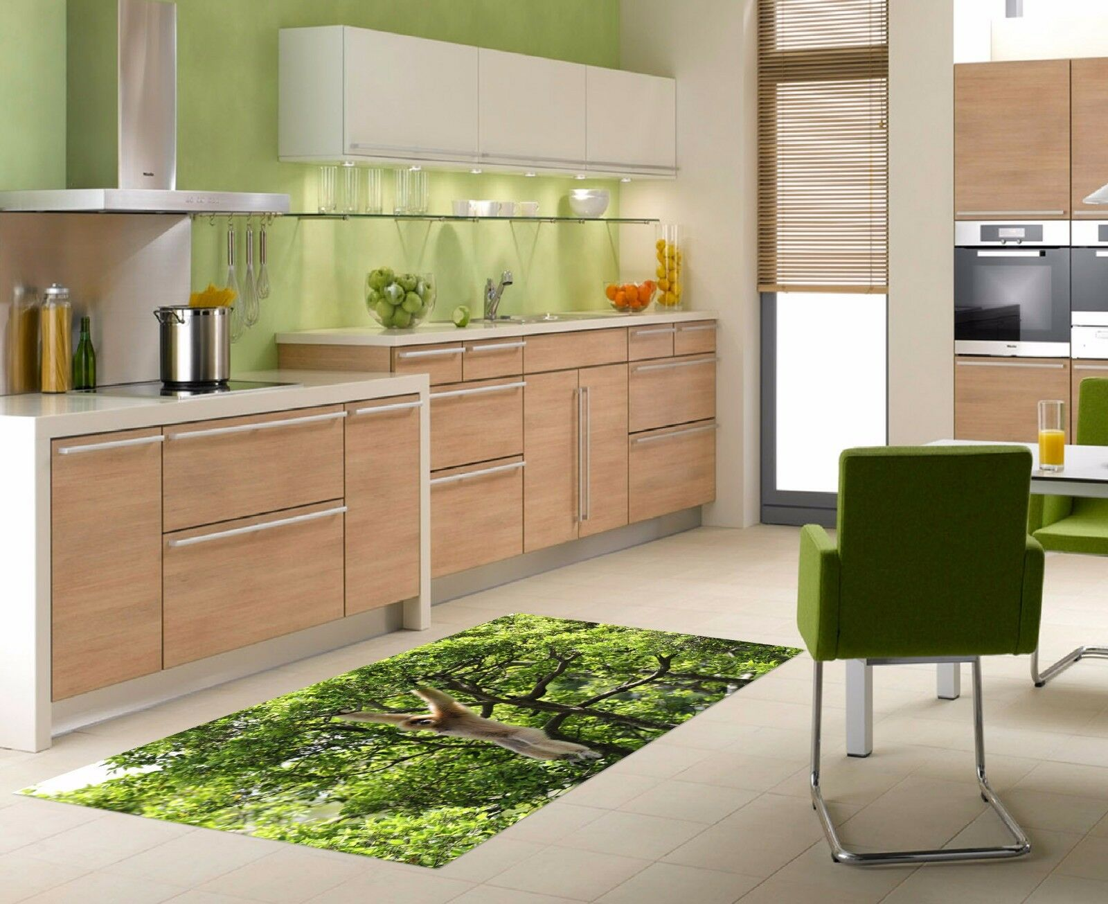 3D Tree Monkey 922 Kitchen Mat Floor Murals Wall Print Wall AJ WALLPAPER UK Kyra