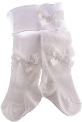 Haarband /& weiße Strumpfhose Baby SET 48 50 56 62 68 74-98 Stirnband Weiß Taufe