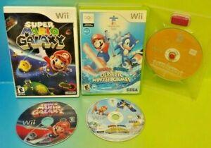 Mario-Galaxy-amp-Sonic-Olympic-Summer-Winter-Games-Nintendo-Wii-Wii-U-Tested-Lot