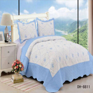 Blue White Double King Size 230x250cm