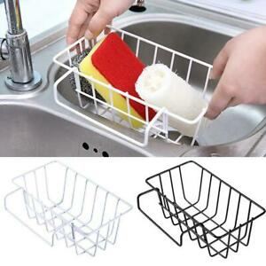 Kitchen-Sink-Sponge-Soap-Scrubber-Tidy-Storage-Holder-Rack-Cleaning-NW-J6R3