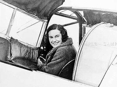 Fotografia vintage AVIAZIONE Pioneer Jean Batten Nuova Zelanda PILOTA LV4843