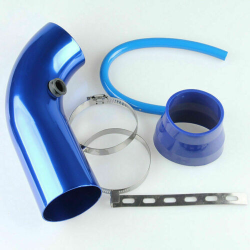 3 Universal Car Cold Air Intake System Turbo Induction Pipe+Cone Filter Kit UK