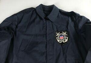 United-States-Coast-Guard-Jacket-VTG-Mens-40R-Auxiliary-Coat-Fits-SZ-M-Military