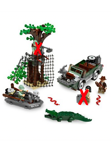 LEGO Indiana Jones River Chase 7625 Missing 2 Minifigures