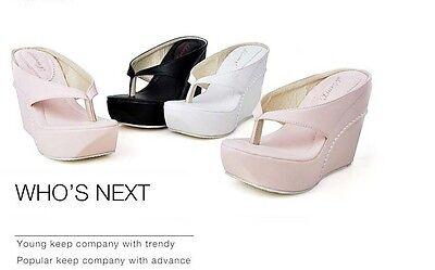 WOMENS High Heel Platform Wedge Slippers Flip-Flops Sandal Shoes Flat loafers###
