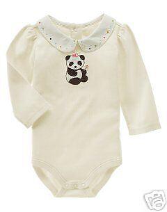 Gymboree New Panda Bear Dot Bodysuit 12-18 Months NWT