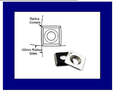 "Carbide Wood Turning Insert with 6"" Radius 15mmx15mmx2.5mm, Like Ci1 insert EWT"