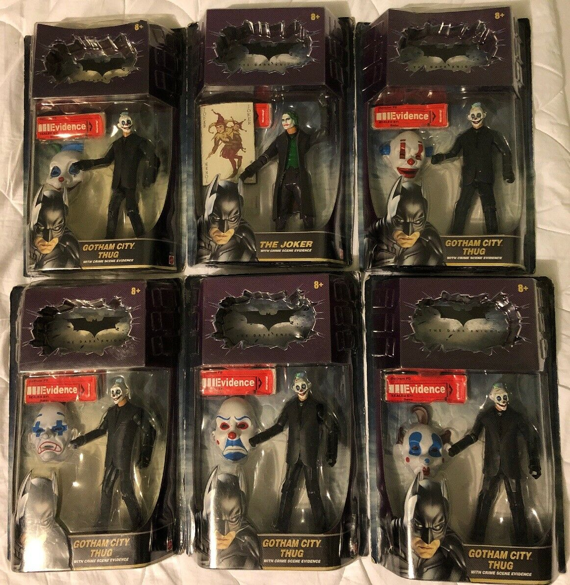 Dark Knight JOKER GOTHAM Stadt THUGS DC Batman Heath Ledger 6 Wirkung Figure Masse