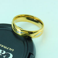 6mm Titanium Steel Gold Wedding Engagement Ring Band Size U J619
