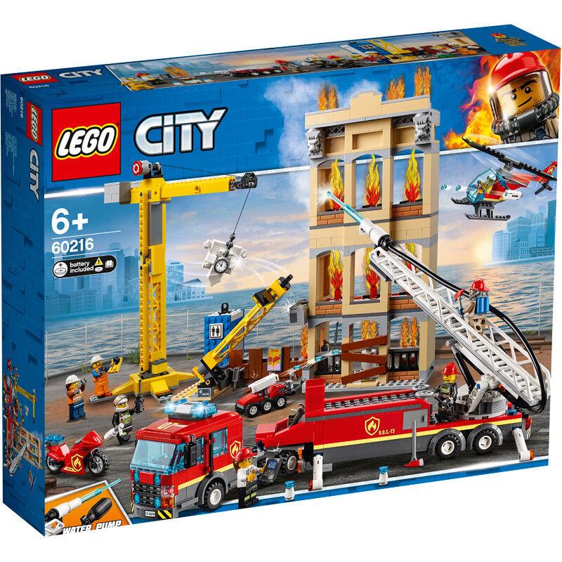 Lego City Downtown Fire Brigade Building Set - 60216 - NEW