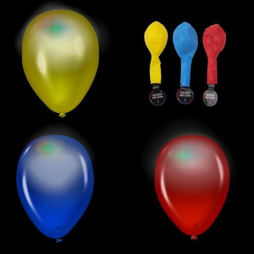 15-45 Stück LED Luftballons Hochzeit leuchtende Ballons blinkend weiss RGB