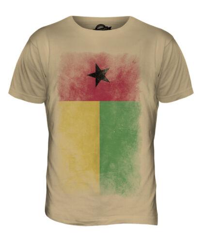 Guinée-Bissau Délavé Drapeau T-Shirt Homme Tee Top Guin? Bissau de football guinéen