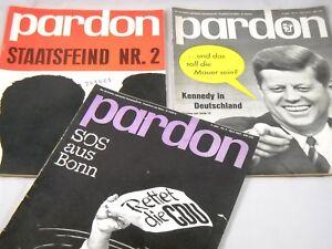 3 X Pardon 1963 Kult Zeitschrift Parodie Satire Politik Konvolut